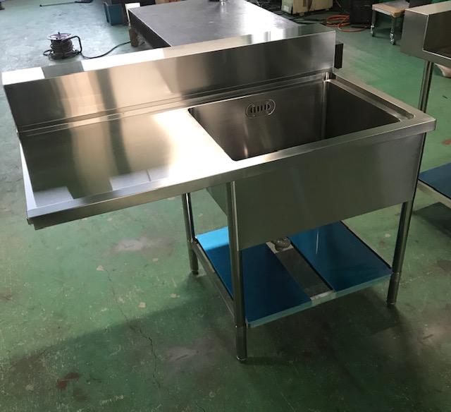 厨房機器 ソイルドテーブルシンク オーダーメイド